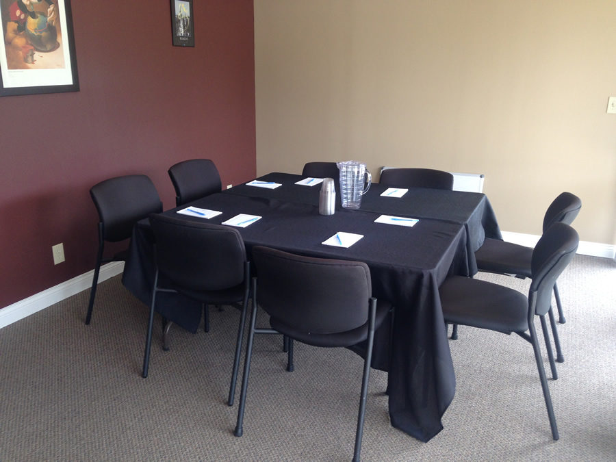 Small Conference Room - Square table with 8 chairs